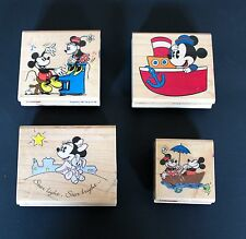 Set of 4 Disney Mickey & Minnie Rubber Stamps Stampede Baby Mickey