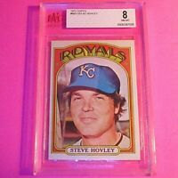 1972 TOPPS #683 STEVE HOVLEY ROYALS Graded BGS - BVG 8 NmMt Royals Nm-Mt