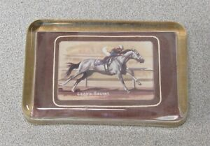 Lady's Secret Glass Paperweight Horse Racing