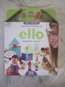 Ello Opolis Girl Ello Creation System 110 Pack Character Builder.New In The Box.