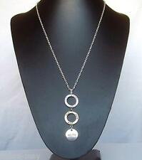 """Karma Rings Love Hope Faith Wish 30"""" Long Chain Pendant Necklace in Gift Bag"""