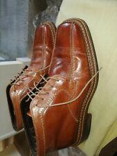 Borelli Hi Top Shoes Size 11.5uk Euro 46.brown.