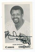 Autographed Photo of Cubs Leon Durham