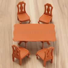 1:12 Model Doll House Miniature Furniture Dining Room Table + 4 Chairs Set Toys