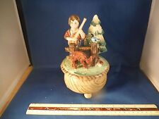 """Vintage Boy From The Back Woods With Guitar """"Talk To The Animals"""" Music Box"""