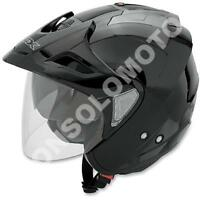 Casco Helmets Jet Moto Cross Enduro Quad Trial Scooter  AFX FX-50 Nero Lucido