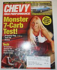 Chevy High Performance Magazine Monster 7-Carb Test December 2001 022615r