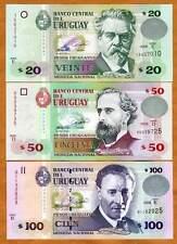 Uruguay, SET, 20;50;100 Pesos Uruguayos, 2008 P-New UNC