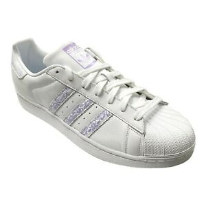 adidas Mens Superstar Graffiti Athletic Casual Shoes Sneaker BD7429 White Purple