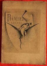 Gravure  XIXè - Apoux Joseph - Pointes sèches - Sorcières