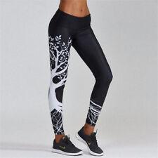 Deportes para Dama Elástico Pantalón de Yoga Leggings Footing Gimnasio Deportivo