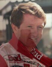 """Bill Elliott Autographed 8.5 x 11"""" Picture NASCAR Budweiser Ford Amoco Vtg"""