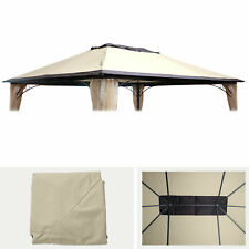 Ersatzbezug 365x265cm für Dach Pavillon Pergola MCW-C44 4x3m, creme