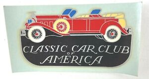 Vintage CCCA Classic Car Club of America Windshield Sticker Collector Man Cave