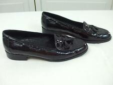 Amalfi Black Croc Leather Shoes Casual Flats Loafers Slip On Tassels Italy 7.5 B