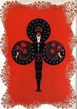 "ORIGINALE VINTAGE Erte Art Deco Print ""il ACES-CLUB"" LIBRO Piastra"