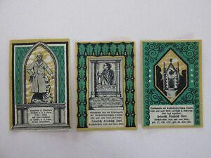 1922 Frucht 25/50/75 Pfennig Notes Lot of 3