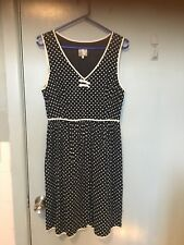 Karen Walker Hi There Navy And White Spotted Dress In Size 10