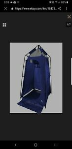Ozark Trail 1-Person Capacity, 1-Room Camping Shower and Utility Tent, Blue
