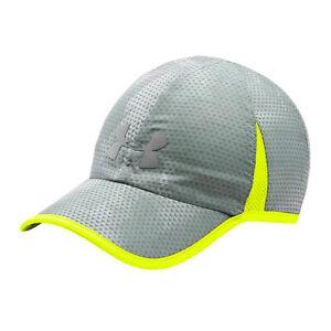 NEW Under Armour Mens Shadow 4.0 Heatgear Running Cap-Grey/Yellow OSFA