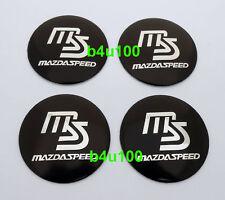 4PCS Wheel Center Hub Caps Emblem Sticker for Mazda 56mm SPEED MS Black b5611