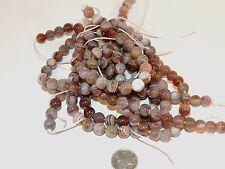 Botswana Agate 8mm round Gemstone Beads (7238)