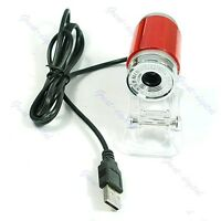 1PC 5.0 Megapixel PC Camera Digital Webcam Lens USB2.0 Red