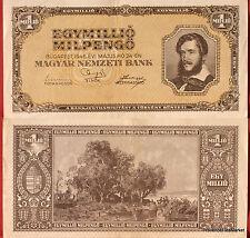 UN BILLET DE BANQUE HONGRIE CIRCULE   Pk N° 128 - 1 MILLION  Pengo Budapest 1946