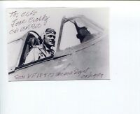 J Ted Crosby WWII USN Navy Fighter War Ace Signed Autograph Photo