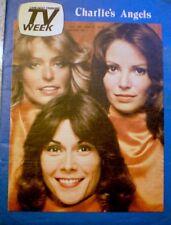 TV Guide 1977 Charlie's Angels Farrah Fawcett Kate Jaclyn Regional NM/MT COA