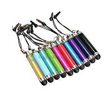 10x Retractable Aluminum Stylus Touch Screen Pen Anti-Dust Plug 3.5mm Colorful