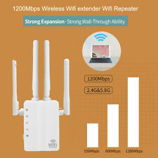 1200Mbps Wireless WiFi Repeater Range Booster Signal Dual Band Amplifier+Antenna