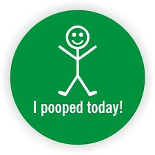 I Pooped Today Hard Hat Sticker / Welding Safety Helmet Decal / Funny Label