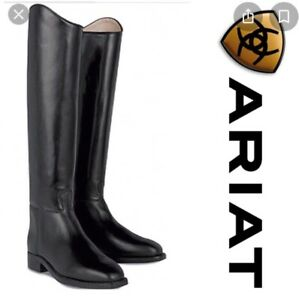 Ariat Maestro Black Leather Riding Boots - size 37 (4.5) Wide Calf 37cm