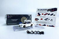 BM Creations 1/64 Scale SUBARU 2001 IMPREZA WRX STI White Diecast car Model Toy