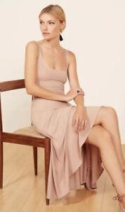 Reformation Jeans Rou Dress Blush Midi Women's Size M ~ PLEASE READ