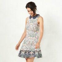 LC Lauren Conrad Floral Peter Pan Collar A-Line Dress SIZE 10