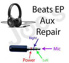 SERVICE Beats by Dre EP Headphones Repair 3.5MM Audio Jack Replacement