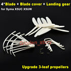 Upgrade 3-leaf Propellers Blade Frame Ring Landing Gear for Syma X5UC X5UW Drone