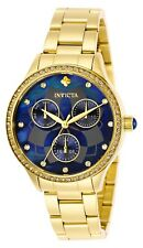 Invicta Women Wildflower Quartz 100m Gold Tone Stainless Steel Watch 29095