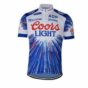 COORS LIGHT BEER Cycling Jersey mens team cycling Short Sleeve jersey
