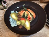 1 NEW WILLIAMS SONOMA Thanksgiving Harvest Pumpkin Salad Plate ~ Multiples