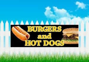 BURGERS & HOT DOGS,OUTDOOR MARKET STALL,SIGN, BANNER, TAKEAWAY, FASTFOOD BANNER