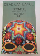 DEAD CAN DANCE Dionysus Poster NEW 2018 Framable Art Promo Only