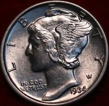 Uncirculated 1934 Philadelphia Mint Silver Mercury Dime