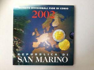 Coffret Euros BU St. Marin 2002.