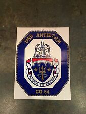 Vintage US Navy Decal / Sticker / USS Antietam / CG 54 / Power To Prevail
