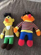 Children's Vintage Bert Ernie Dolls Toys 1984 Muppets Hasbro Playskool Sesame S