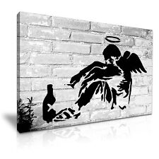 Banksy Fallen Angel Canvas Wall Art Picture Print 76x50cm