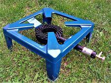 ANGEBOT 4 Fuß Bein Hockerkocher Gaskocher Campingkocher Gas Kocher blau